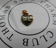 THOMAS SABO For HARRODS Heart Charm *Union Jack* Silver/Gilt Limited RRP £60.00