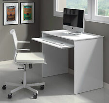 Milan Compact Computer Desk White Gloss Workstation Study Table