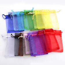 50pcs/bag 7x9cm 24 Colors Jewelry Holder Organza Bags Wedding Gift Bags Pouches