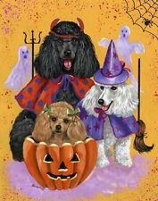 "Precious Pets Garden Flag - Poodle Halloweenie 12"" x 18"" ~ Charity!"