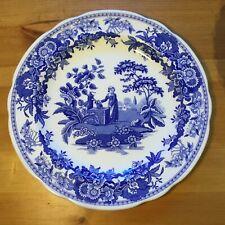 """Spode Blue Room 10½"""" Dresser Plate: Girl At Well"""
