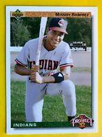 1992 MANNY Ramirez ROOKIE CARD Upper Deck #63 Top Prospect Vintage Baseball MINT