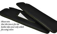 Jaune stitch 2x pare-soleil peau couvre fits PEUGEOT 206CC 98-10 convertible