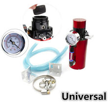 New Car Kit Engine Oil Reservoir Catch Can Tank Breather + Vacuum Pressure Gauge