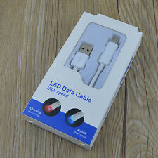 Smart Charging LED Light Micro USB Data Cable for Samsung S4/3 S6 edge Note5/4/2