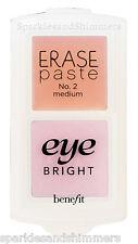 Benefit ERASE PASTE No. 2 Medium Concealer & EYE BRIGHT Instant Brightener DUO