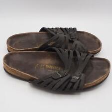 Birkenstock Germany 265 Ladies Size 10 Sandals Slides Shoes Leather Black