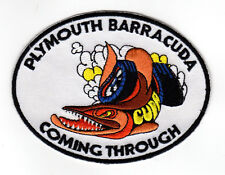 PLYMOUTH BARRACUDA VALIANT EMBROIDERED IRON ON PATCH hot rod muscle car jacket