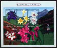 LESOTHO 2000 - BLOC AFRICAN FLOWERS MNH