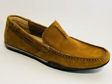 Clarks Schuhe Nubuk Leder Slipper Größe 44,5 (UK 10) beige bequem Weite G