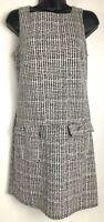 Dorothy Perkins women's sleeveless houndstooth dress size 4 black and white