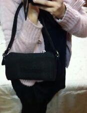 Borsa bambina o pochette donna Roccobarocco nera logata cinghie gioiello barocco