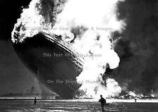 """Photo: 5"""" x 7"""": Burning Hindenburg On Ground, Lakehurst, 1937"""