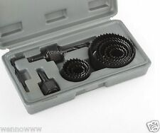 DIY Metal Drill Hole Saw Kit Set 19-64mm Wood Thin Metal Sheet Thin Alloys 11Pc