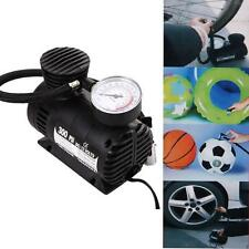 Portable Pop 300 PSI 12V Car Auto Pump Tire Inflator Mini Air Compressor W/Gauge