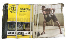 💪Gold's Gym two 40lb Vinyl Adjustable Dumbbell Weight Set, NEW 💪