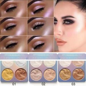*NEW FOR 2020*UK* Highlighter Face Powder Palette Shimmer Makeup Glow 4 Colours.