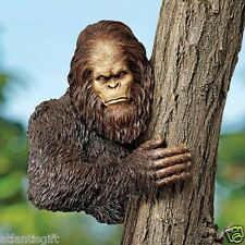"""Bigfoot The Bashful Yeti Handcrafted Hand Painted Tree 15"""" Garden Sculpture"""