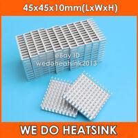 2pcs WE DO HEATSINK 45mm 45*45*10mm Aluminum IC LED Silver Cooler Heatsink