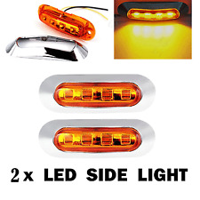 2pcs Car Truck Trailer RV 4 SMD LED Lamp Side Clearance Marker Lamp Light Amber