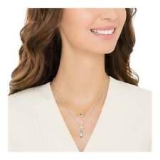 NIB Swarovski Gipsy Layered Necklace Teal 5270083