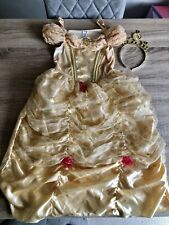 Disney Belle Costume Dress Up Beauty & The Beast 7-8 Years And Tiara