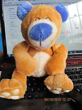 Tickle Toes Bear Luv N Care Plush Giggling Brown Blue Ears Nose Nuby Works Toy