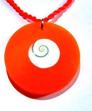 Collier Œil de Sainte Lucie Pendentif Shiva ajustable Bijoux Coquillage Eye