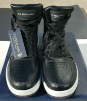 NEW! U.S.POLO ASSN. BLACK SANBRUNO High Top Athletic Shoes Size 10.5