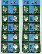20 x boutons alcalines/coin cells piles AG13 LR44 SR44 L1154 357 A76 uk vendeur
