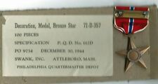 WW2 US  Boxed Bronze Star Medal Decoration --MINT with White Box of Issue !