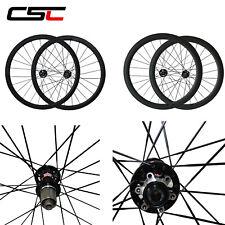 700C U Shape Carbon Disc Brake Wheels Clincher Tubular Cyclocross Bike Wheelset