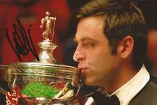 SNOOKER: RONNIE O'SULLIVAN SIGNED 6x4 TROPHY PHOTO+COA *THE ROCKET* **PROOF**