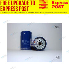 Wesfil Oil Filter WZ63 fits BMW 5 Series 520 i (E28),525 e (E28)