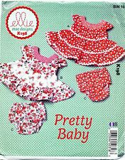 KWIK SEW SEWING PATTERN 198 BABY SZ S-XXL TIERED DRESSES & NAPPY COVERS / PANTS
