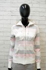 Felpa Cardigan Donna Gaudi Taglia S Pullover Maglione con Zip a Righe Sweater