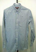 VINEYARD VINES WHALE Blue Green Check Button Down Cotton Shirt Size Boys XL 20