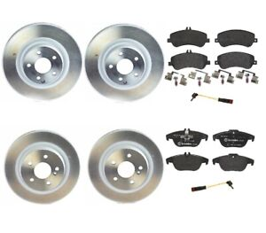 Brembo Front and Rear Full Brake Kit Disc Rotors Low-Met Pads For Mercedes X204