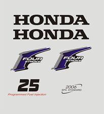 Adesivi motore marino fuoribordo Honda 25  hp four stroke gommone barca