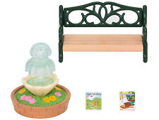 Sylvanian Families Calico Critters Bench and Fountain