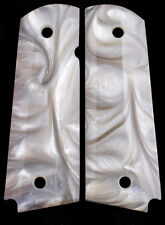 1911 Pearl grips Fits ALL Gov. & Clones White Mother of Pearl Best Same day s/h