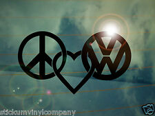 VW Peace Love Dubs Car Sticker/Decal *Dubs*German*Volkswagen*VAG*Euro*VDUB*VW*