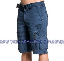 Affliction Norris 110WS149 New Navy Cargo Fashion Shorts for Men