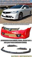 Mu-gen RR Front Bumper + Lip + Fog + Grill + DRL Fits 06-11 CSX (JDM Civic)