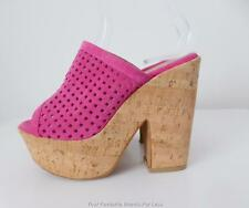 ROLLINI Pink Leather Platform Shoes Size 36  Made in Greece
