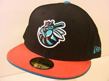 100% Genuine New Era 5950 Burlington Bees Mlb Baseball Hat Fitted Ball Cap 7 5/8
