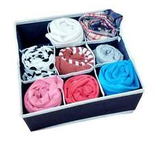 9 Cells Socks Underwear Ties Storage Box Bra Drawer Closet Home Organizer