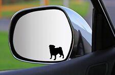 2x, 4x, 6x Silhouetten-AUFKLEBER MOPS sticker Fensteraufkleber Autoaufkleber