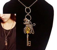 Yellow Gold Plated Charm Beauty Costume Necklaces & Pendants