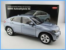 BMW ActiveHybrid x6 * en océan Metallic * Kyosho * échelle 1:18 * Neuf dans sa boîte * NOUVEAU